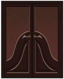 Porta de madeira clássica ilustração stock