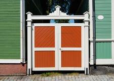 Porta de madeira colorida Imagens de Stock Royalty Free