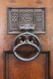 Porta de madeira da corte suprema Westminster, Parliament Square, Londres, Inglaterra, o 15 de julho de 2018 fotos de stock royalty free