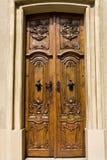 Porta de madeira de uma igreja Foto de Stock