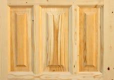 Porta de madeira do fragmento feita da árvore conífera Fotografia de Stock