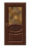 Porta de madeira do quarto ilustração royalty free