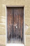 Porta de madeira do verde velho do vintage Fotografia de Stock