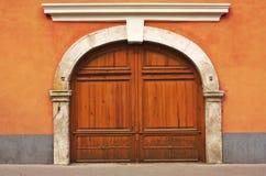 Porta de madeira do vintage Foto de Stock