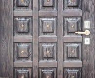 Porta de madeira do vintage imagem de stock