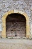 Porta de madeira europeia velha Fotografia de Stock Royalty Free