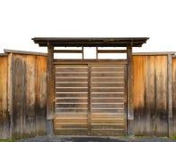 Porta de madeira fechada Fotografia de Stock