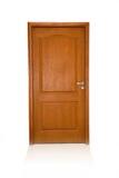 Porta de madeira fechada isolada Fotografia de Stock Royalty Free