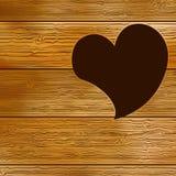 Porta de madeira, forma do coração. + EPS8 Fotografia de Stock Royalty Free