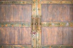 Porta de madeira, fundo da textura Imagem de Stock Royalty Free