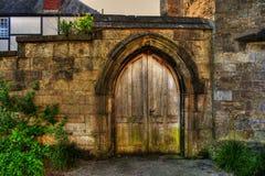 Porta de madeira HDR Foto de Stock Royalty Free