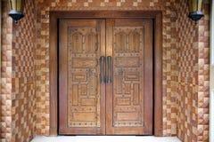 Porta de madeira indiana Imagem de Stock Royalty Free