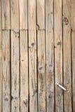 Porta de madeira manchada Imagens de Stock Royalty Free