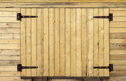Porta de madeira nova Fotos de Stock Royalty Free