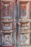 Porta de madeira rústica do vintage velho Foto de Stock Royalty Free