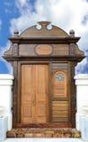 A porta de madeira retro Fotos de Stock