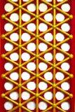 Porta de madeira tradicional chinesa Imagens de Stock