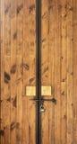 Porta de madeira travada Imagem de Stock