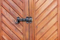 Porta de madeira velha Fotos de Stock