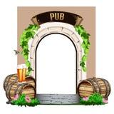 Porta de madeira velha ao bar Fotografia de Stock