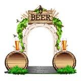 Porta de madeira velha ao bar Imagens de Stock Royalty Free