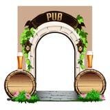 Porta de madeira velha ao bar Fotografia de Stock Royalty Free