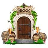Porta de madeira velha ao bar Fotos de Stock