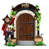 Porta de madeira velha ao bar Foto de Stock