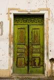 Porta de madeira velha Castelo de Vide Portugal Foto de Stock Royalty Free