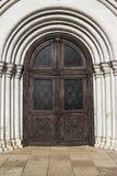 Porta de madeira velha da igreja Foto de Stock