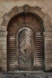 Porta de madeira velha da prancha, estilo do vintage, elementos retros Fotos de Stock