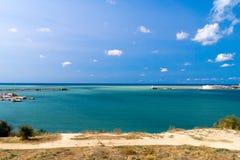 A porta de mar na baía Foto de Stock Royalty Free