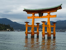 Porta de Miyajima Torii Foto de Stock Royalty Free