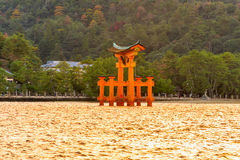 Porta de Miyajima Torii, Japão fotografia de stock