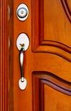 Porta de mogno Foto de Stock