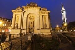 Porta de Paris i Lille Arkivfoto