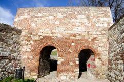 Porta de pedra do castelo velho Fotografia de Stock