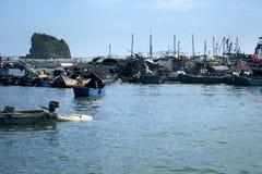 Porta de pesca Imagens de Stock