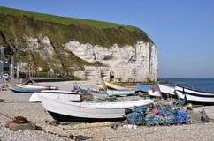 Porta de pesca de Yport em France Imagens de Stock Royalty Free