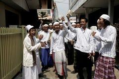 Porta de Rabana à porta no Cawang-leste Jakarta Foto de Stock Royalty Free