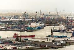 A porta de Rotterdam imagens de stock