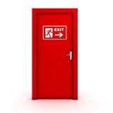 Porta de saída ilustração stock