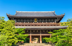 Porta de Sanmon Chion-no templo em Kyoto Fotografia de Stock Royalty Free