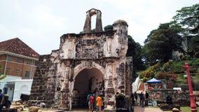 Porta de Santiago in Malacca, Malaysia Stock Image
