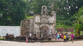 Porta de Santiago in Malacca Stock Photo