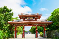 Porta de Shurei segunda-feira do japonês foto de stock royalty free