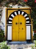 Porta de Sidi Bou Said La Gulett, Tunísia Imagem de Stock Royalty Free