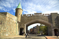 Porta de St John em Cidade de Quebec Foto de Stock Royalty Free