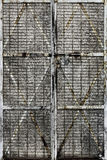 Porta de tela manchada do metal Imagens de Stock Royalty Free