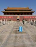 Porta de Tiananmen à cidade proibida em Beijing Fotografia de Stock